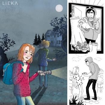 Selkokielisen kirjan kuvitus - Anita Polkutie